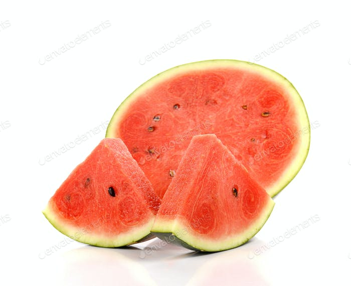 Watermelon , Watermelon slice on white background.
