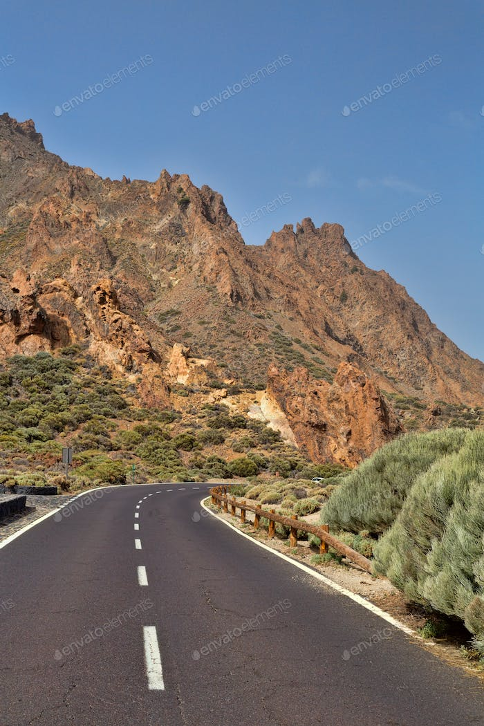 Road to volcano Teide.