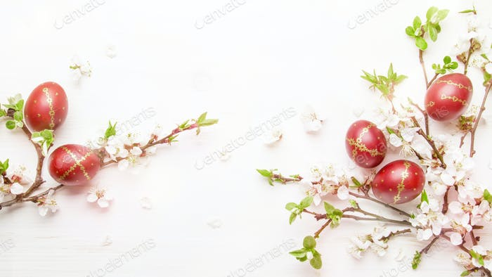 Easter white background
