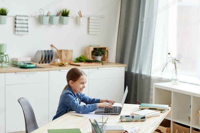 Little Girl Cheating in Online School