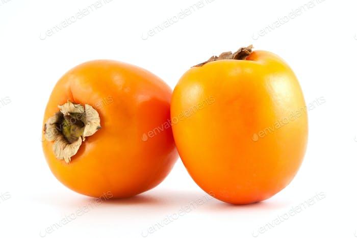 Two Orange persimmon
