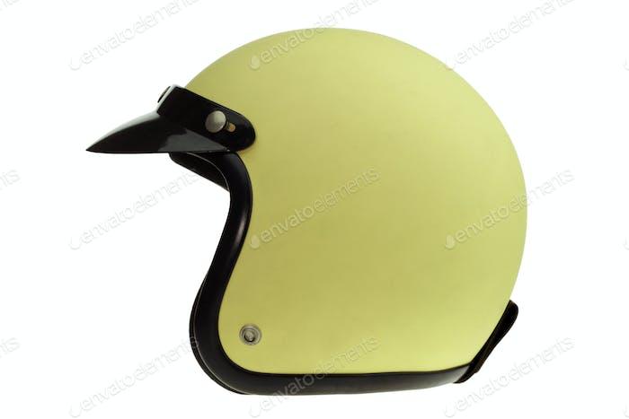 Yellow motorbike classic helmet