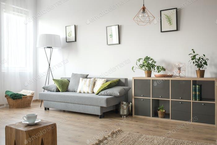 Gemütliches Wohnzimmer mit Sofa