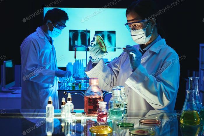 Examining substance