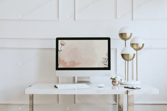 Mockup de la pantalla del ordenador