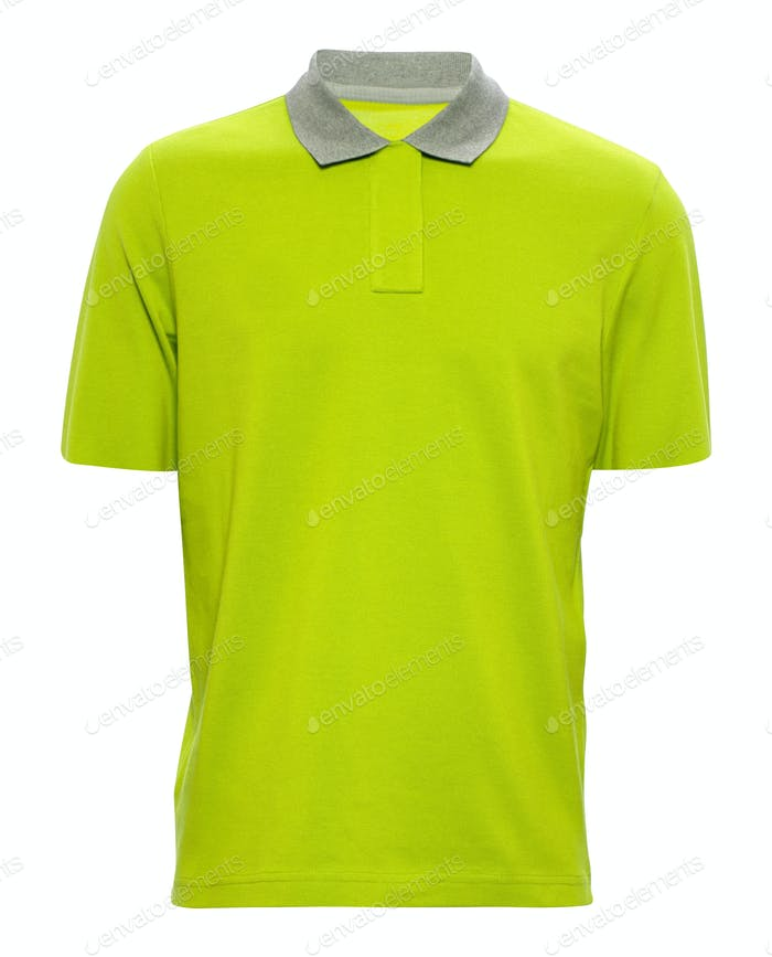 yellow T-shirt on white background