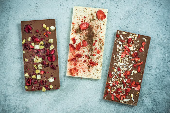 Artisan handmade chocolate bars