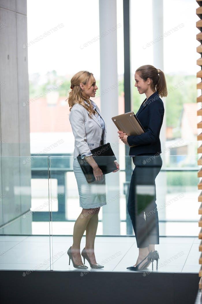 Businesswomen having a conversation