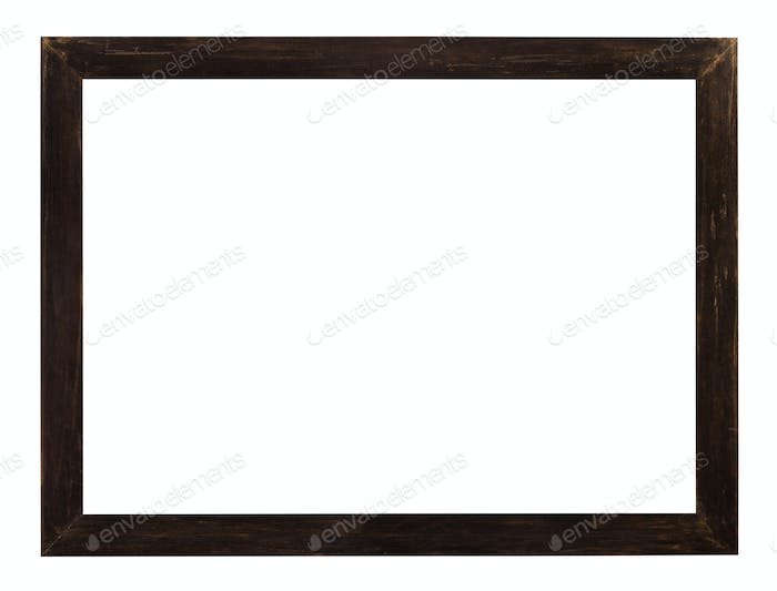 modern flat dark brown wooden picture frame