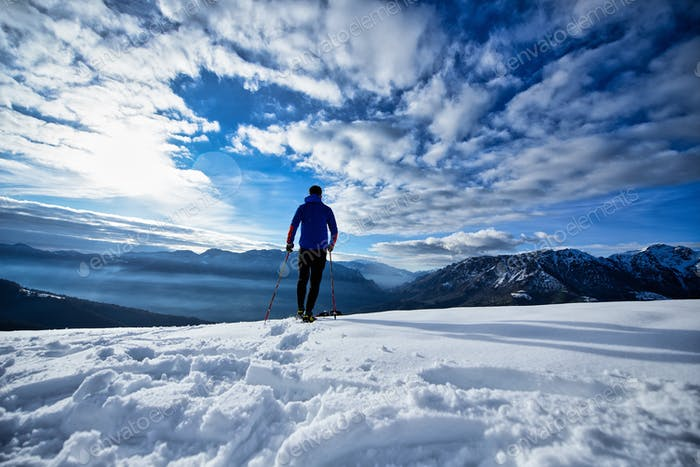 Solo-Ausflug mit Schneeschuhen