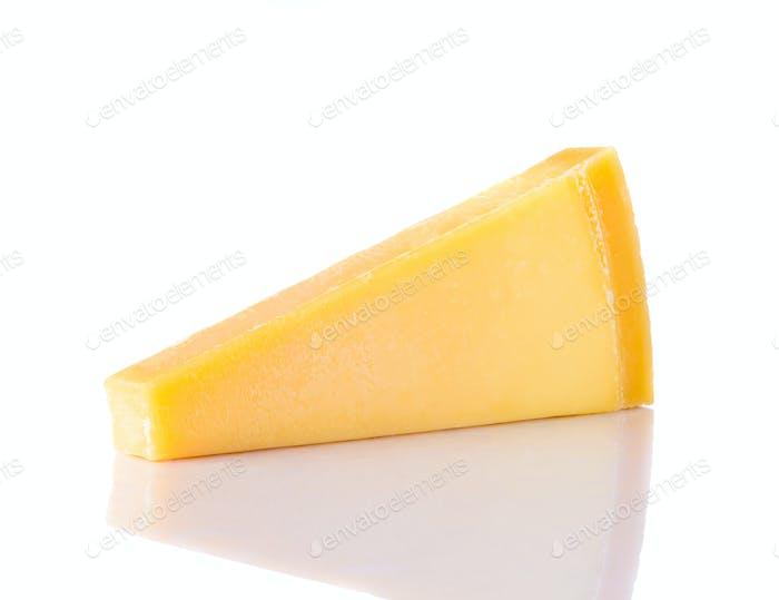 Parmigiano-Reggiano Parmesan Cheese on White