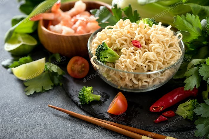 Chinese Noodles, Asian Food