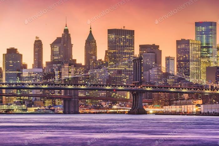 New York City East River Cityscape