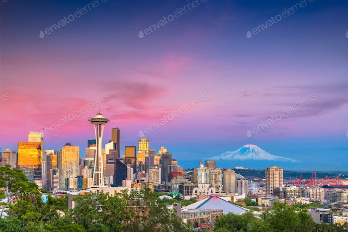Seattle, Washington, USA Skyline
