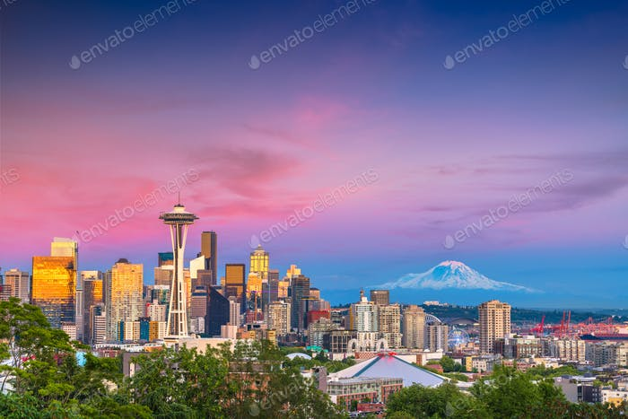 Seattle, Washington, Estados Unidos Skyline