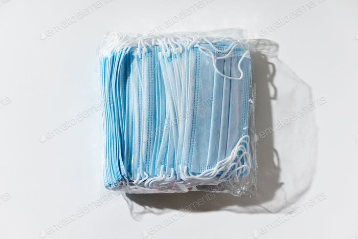 Stack of facial medical masks