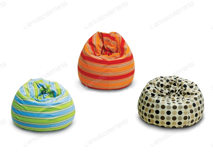 Bean bags, out doors indoors in different designs and colors