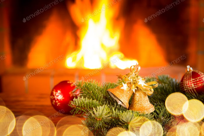 Christmas Xmas Fireplace Holiday Winter