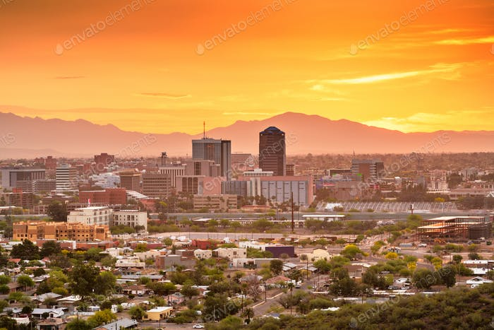 Tucson, Arizona, USA Skyline