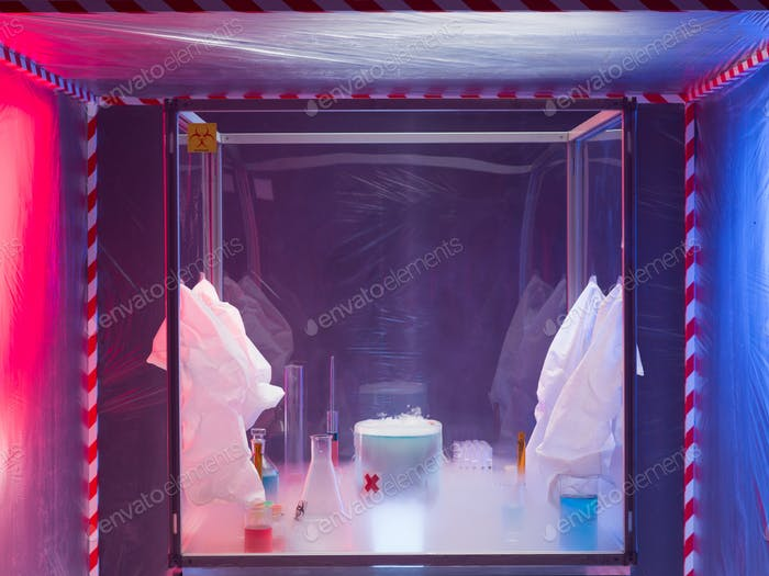 chemical reactions in sterile protection enclosure