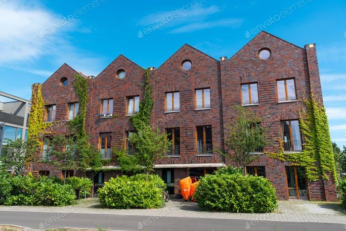 Red brickwall serial houses
