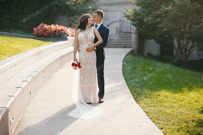 Hochzeit in einer Stadt
