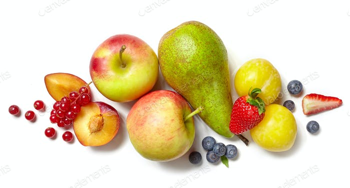 composition of various fruits and vegetables