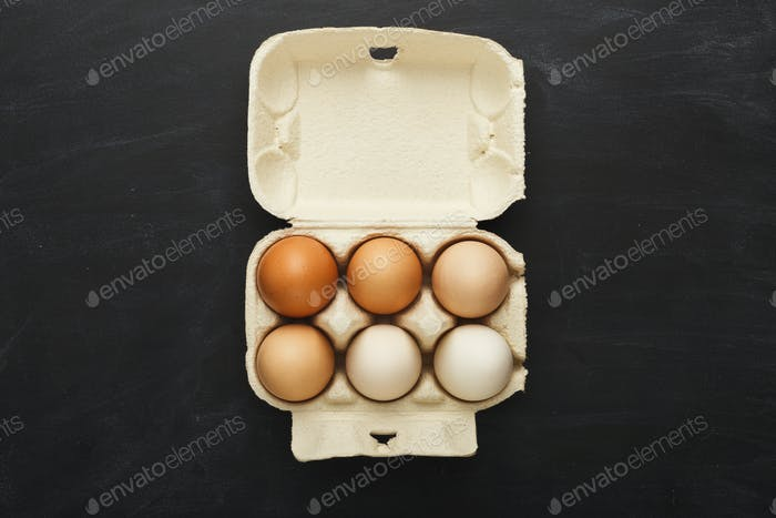 Minimalistic background with gradient of natural colored eggs