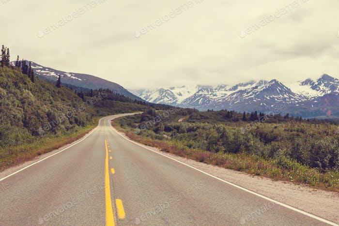 Straße in Alaska