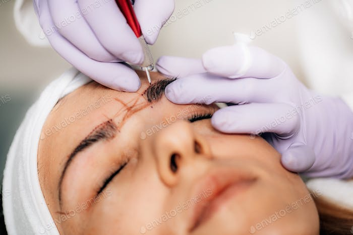 Brow Microblading Cosmetic Procedure