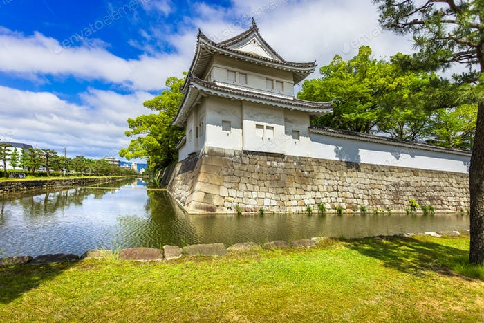 Tokyo Imperal Palace and water canal. Japan