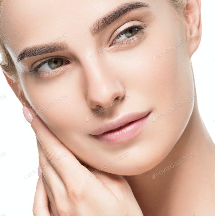 Natural healthy skin beauty female macro