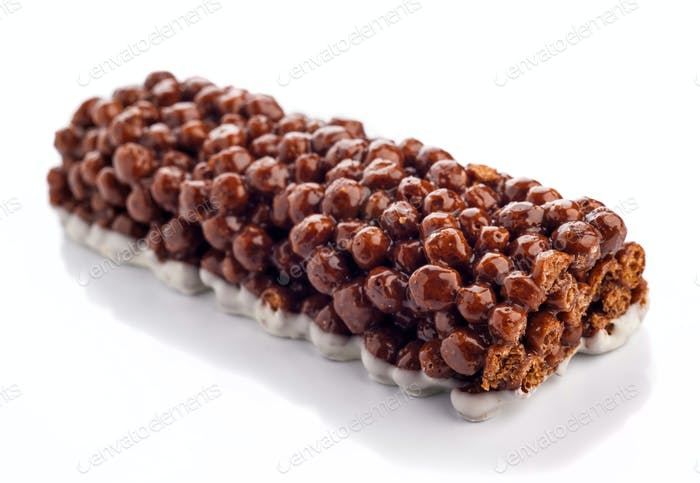 energy cereal bar with cocoa