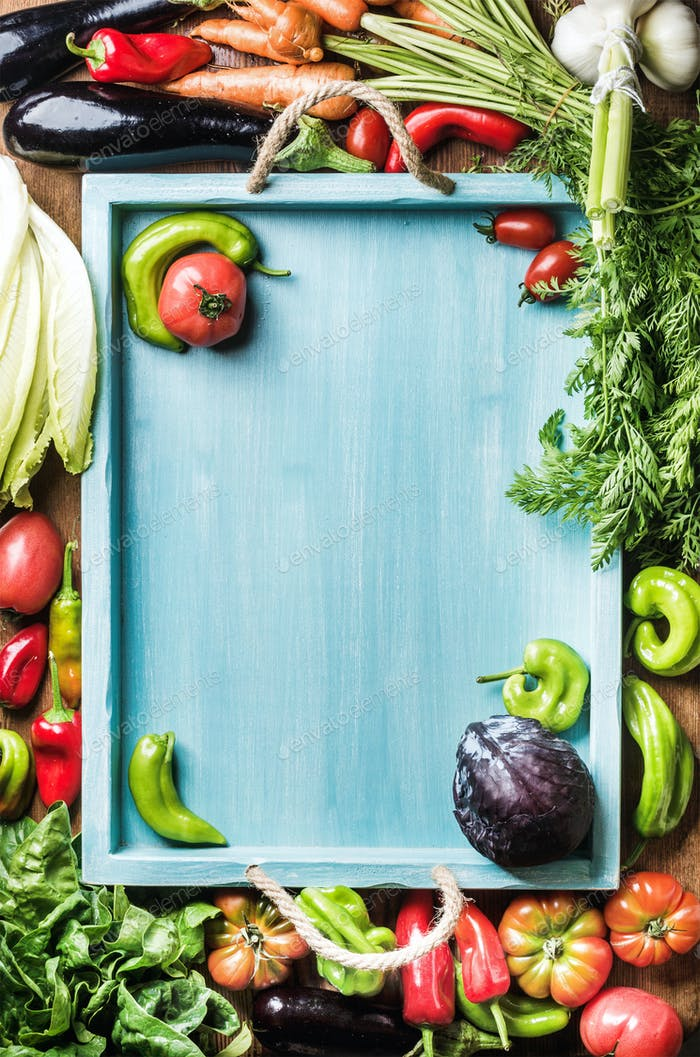 Frisches rohes Gemüse Zutaten für gesundes Kochen