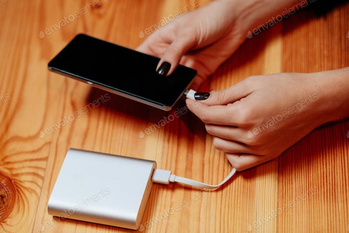 powerbank charge smartphone