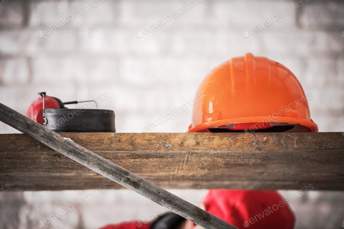 Hard Hat Construction Area