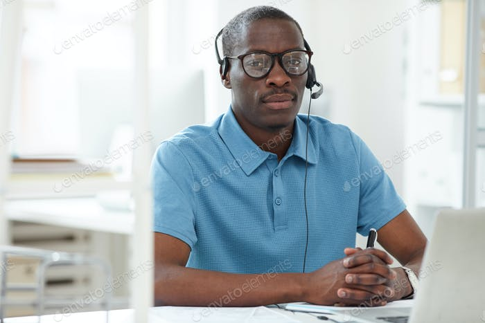 African man working as a consultant