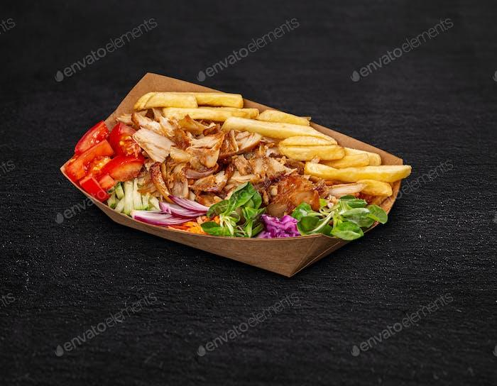 Greek gyros dish