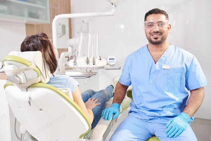 Middle-Eastern Dentist Posing