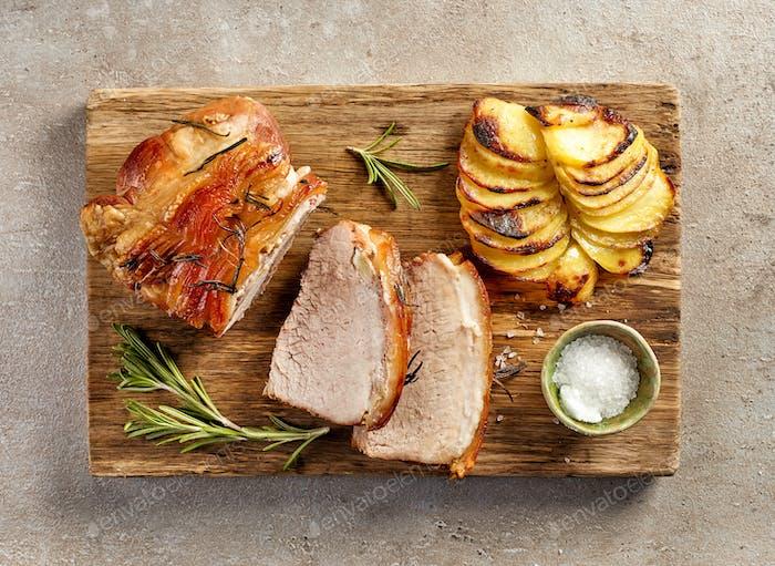 roasted pork slices