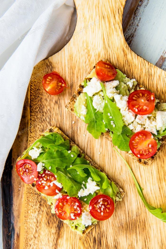 Healthy Snack from Wholegrain Rye Crackers