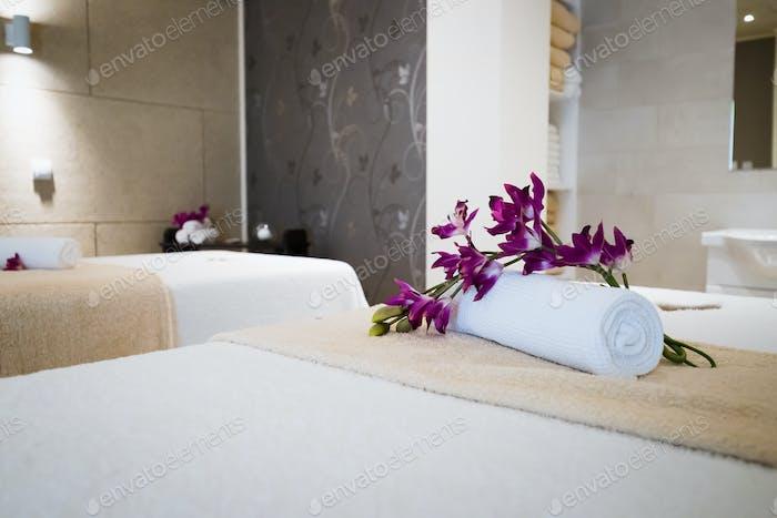 Beautiful wellness massage saloon