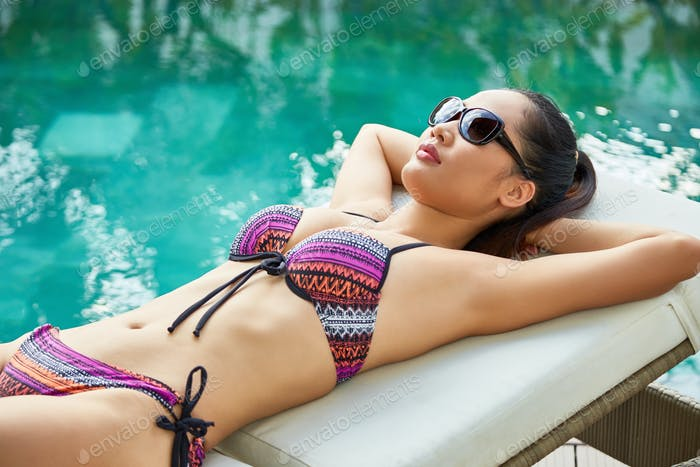 Sunbathing woman