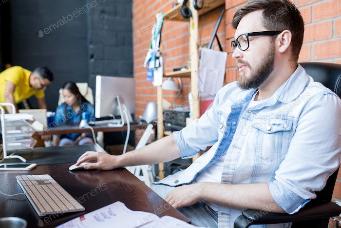 Contemporary Businessman at Work