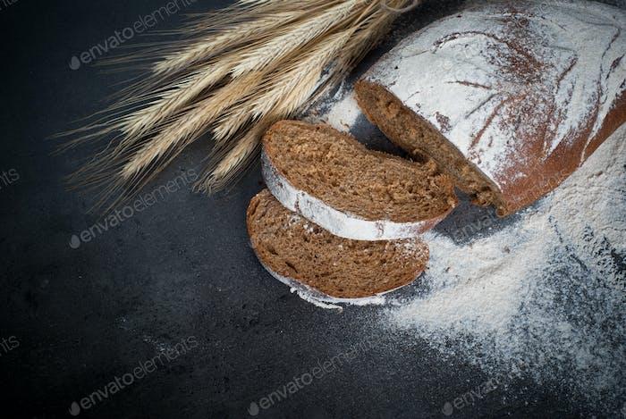 Homemade whole grain bread