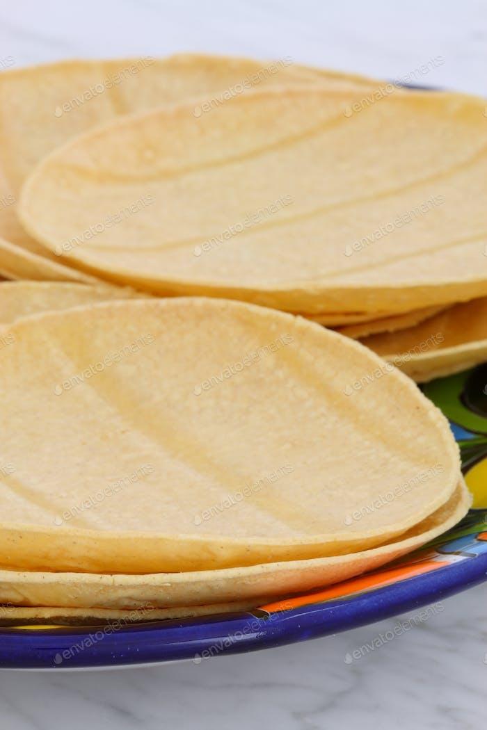 Delicious mexican corn tortillas