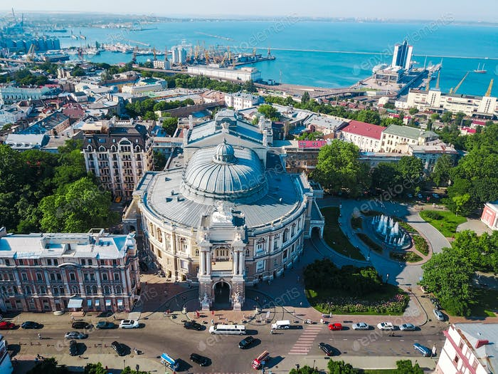 Aerial view Opera and Ballet Theater