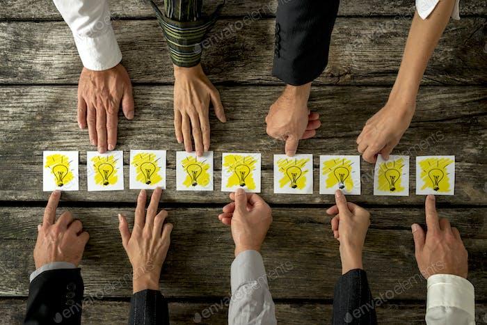 Brainstorming- und Teamwork-Konzept