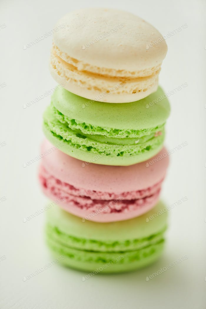 Delicate Macaroons Cllose Up