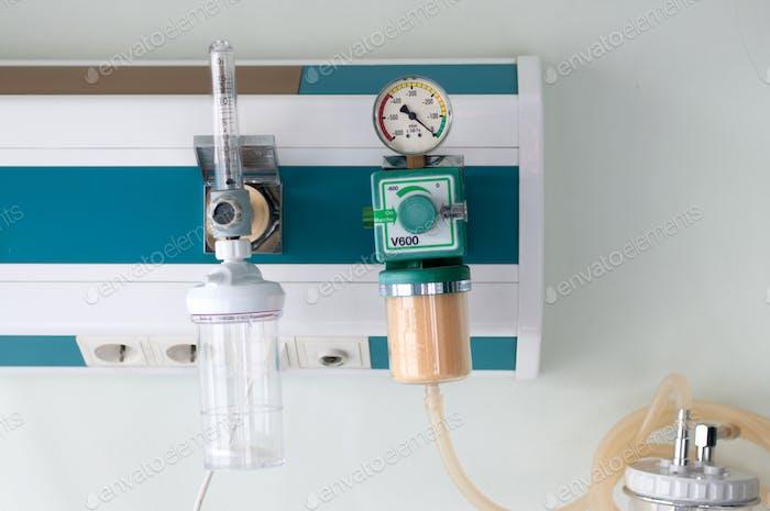 Suministros médicos en un hospital